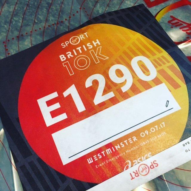 British 10K Bib