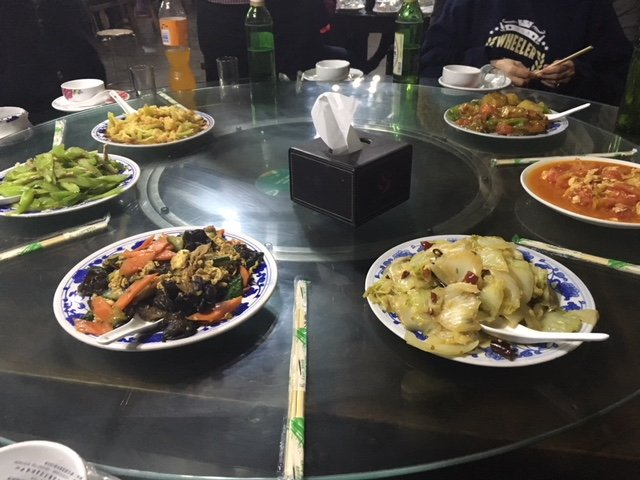 China Trek Day 1 - Chinese meal