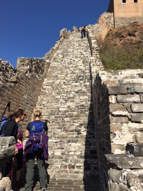 China Trek Day 1 - Jinshanling - more steep steps