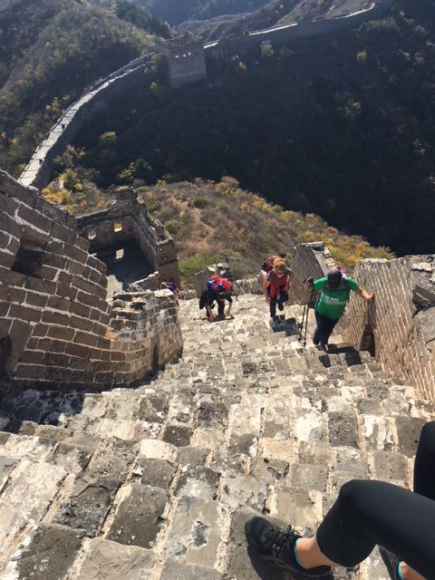 China Trek Day 1 - Jinshanling - steep steps
