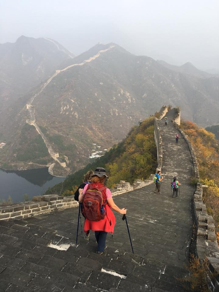 China Trek Day 4 - Huanghuacheng - scary walk down