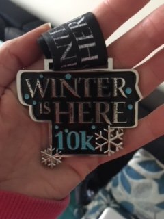 Winter 10K medal