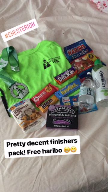Chester 10K finishers pack