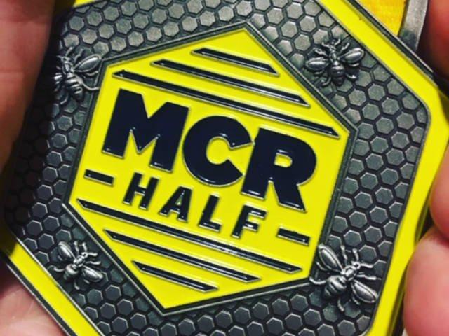 Manchester Half Marathon 2018 medal