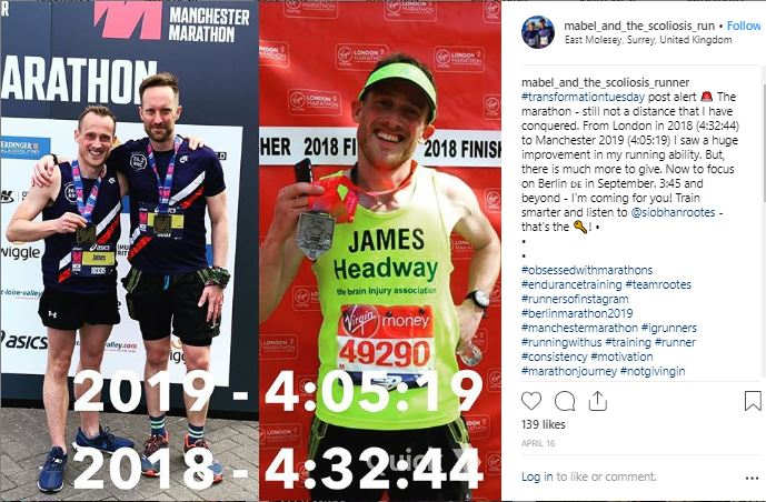 Inspiring Instagram Accounts to follow - Mabel and the Scoliosis Runner