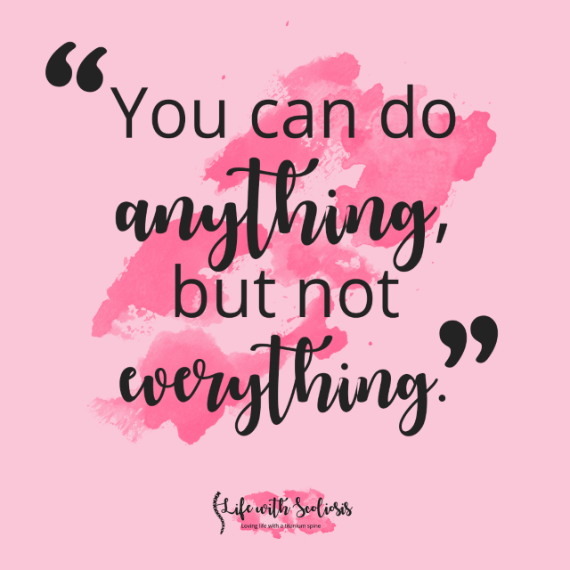 Stress Awareness Week Quote - You can do anything, but not everything.
